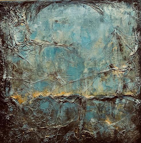 Rita Simon-Reinecke, Leuchten, Abstraktes, Abstrakter Expressionismus