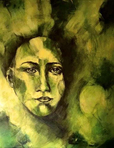 Rita Simon-Reinecke, Grüne Sicht, Menschen: Frau, Abstrakte Kunst