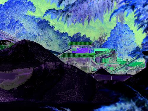 Eva-Caroline Dornach, Industrielandschaft II, Industrie, Diverse Landschaften, Gegenwartskunst, Abstrakter Expressionismus