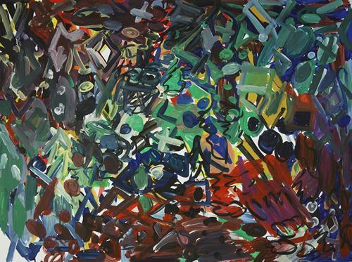 Yuriy Samsonov, Night., Abstraktes, Landschaft, Abstrakter Expressionismus