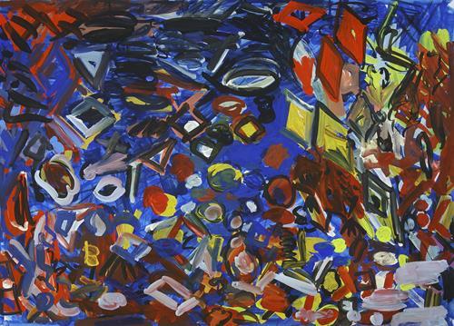 Yuriy Samsonov, On vacation., Abstraktes, Landschaft, Abstrakter Expressionismus