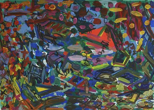 Yuriy Samsonov, Small cars., Abstraktes, Bewegung, Abstrakter Expressionismus