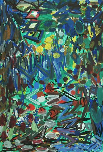 Yuriy Samsonov, The mountains., Abstraktes, Landschaft, Abstrakter Expressionismus