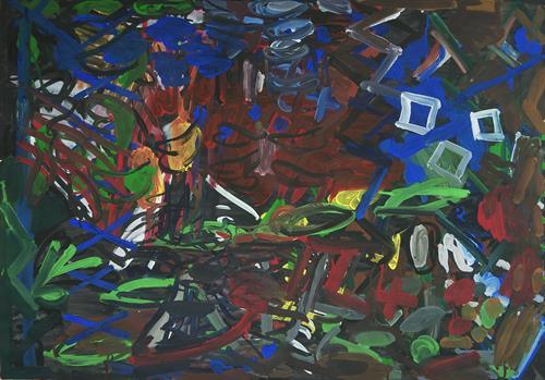 Yuriy Samsonov, We are waiting., Abstraktes, Landschaft, Abstrakter Expressionismus