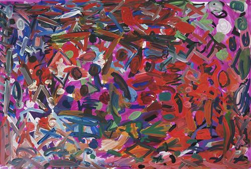 Yuriy Samsonov, Not a word., Abstraktes, Landschaft, Abstrakter Expressionismus