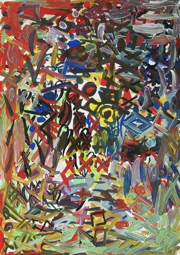 Yuriy Samsonov, Punishment., Abstraktes, Landschaft, Abstrakter Expressionismus