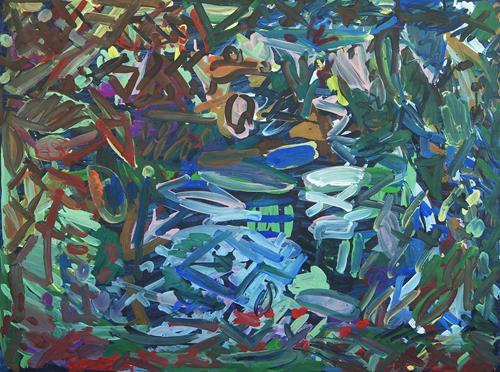 Yuriy Samsonov, Paint the walls., Abstraktes, Landschaft, Abstrakter Expressionismus