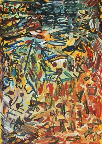 Yuriy Samsonov, Weiler. Akt V., Abstraktes, Landschaft, Abstrakter Expressionismus