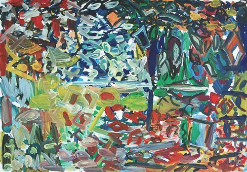 Yuriy Samsonov, Witzige Erfahrungen., Abstraktes, Landschaft, Abstrakter Expressionismus