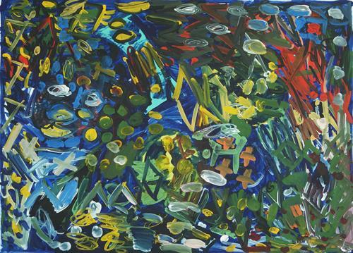 Yuriy Samsonov, Archäologie, wiederaufbau, fantasie., Abstraktes, Landschaft, Abstrakter Expressionismus
