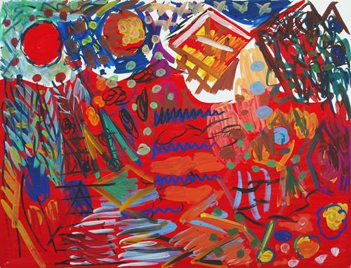 Yuriy Samsonov, Ich werde es erzählen., Abstraktes, Landschaft, Abstrakter Expressionismus