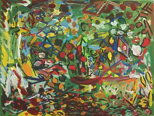 Yuriy Samsonov, Die Straße bleibt., Abstraktes, Landschaft, Abstrakter Expressionismus