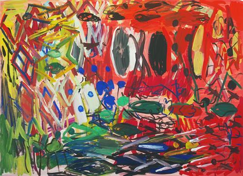 Yuriy Samsonov, Ohne Sense und Sichel. Lotusblume., Abstraktes, Landschaft, Abstrakter Expressionismus