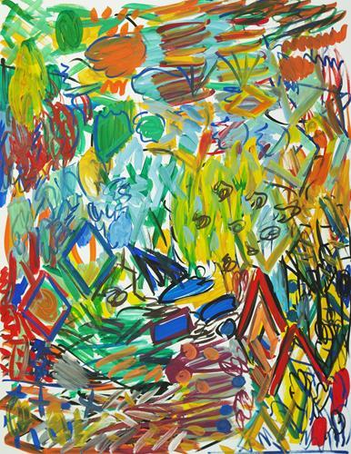 Yuriy Samsonov, Schleppnetze und Fallen. Südsee., Abstraktes, Landschaft, Abstrakter Expressionismus