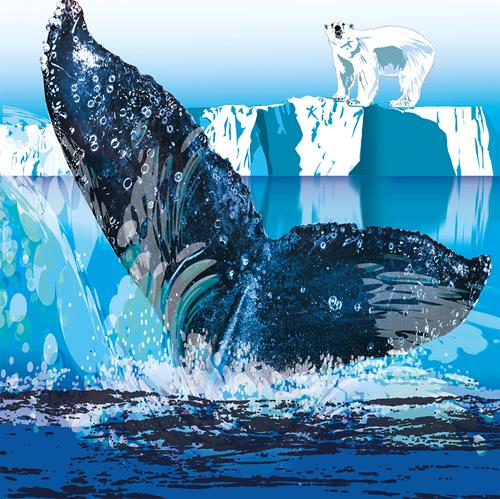 Leo Will, Antartika, Landschaft: See/Meer, Gegenwartskunst, Abstrakter Expressionismus