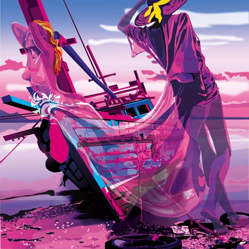 Leo Will, Galionspopp, Landschaft: See/Meer, Gegenwartskunst, Abstrakter Expressionismus
