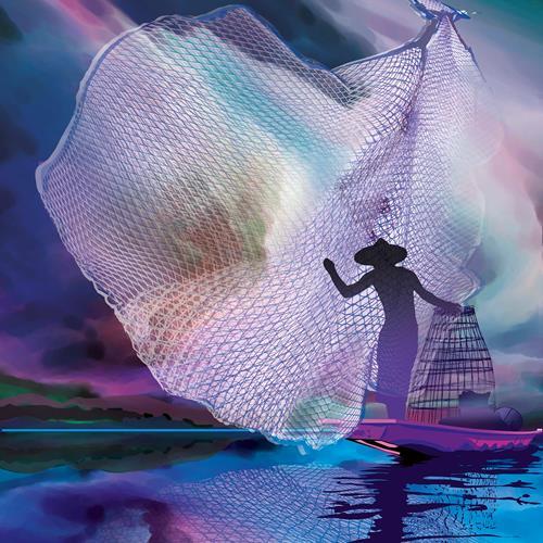 Leo Will, Fisherman, Arbeitswelt, Gegenwartskunst, Expressionismus