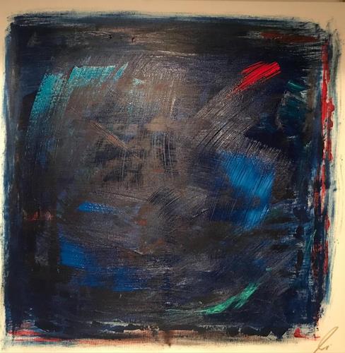 A Lee Brown, Blue, Abstraktes, Abstrakte Kunst, Abstrakter Expressionismus