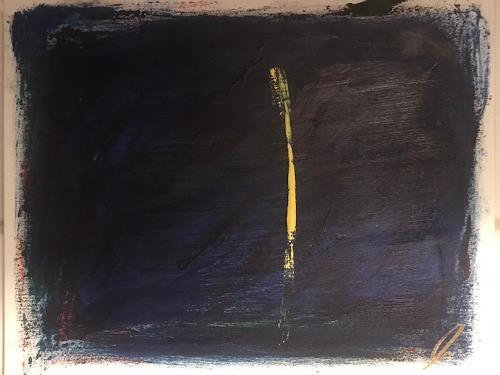 A Lee Brown, Yellow, Abstraktes, Abstrakte Kunst, Abstrakter Expressionismus