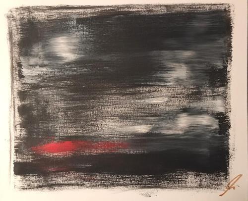 A Lee Brown, The Red Way, Abstraktes, Abstrakte Kunst