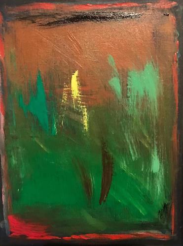 A Lee Brown, O/T, Abstraktes, Abstrakte Kunst, Abstrakter Expressionismus