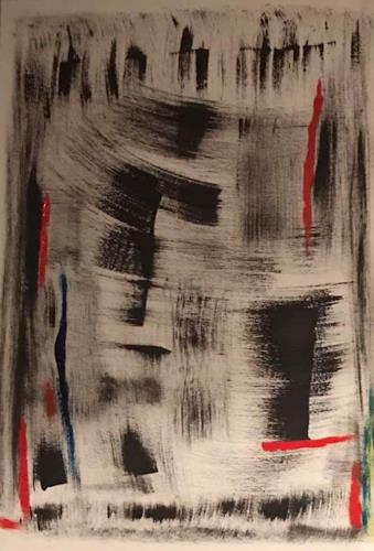 A Lee Brown, London by Night, Abstraktes, Abstrakte Kunst