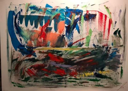 A Lee Brown, Spiegelung, Abstraktes, Abstrakte Kunst
