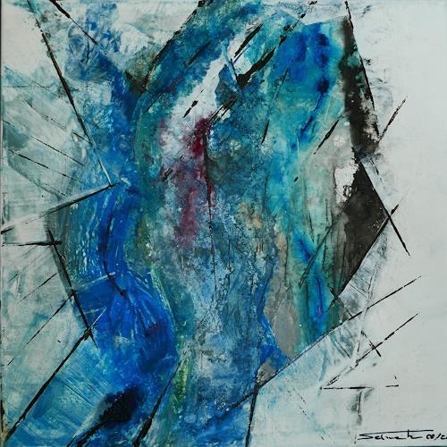 Uli Schweitzer, Einschluss, Abstraktes, Landschaft: Winter, Abstrakter Expressionismus