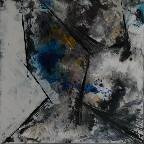 Uli Schweitzer, Begrenzung, Landschaft: Winter, Natur: Gestein, Abstrakter Expressionismus
