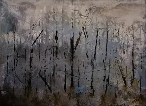 Uli Schweitzer, Moorwanderung, Diverse Landschaften, Natur: Wald, Abstrakte Kunst, Abstrakter Expressionismus