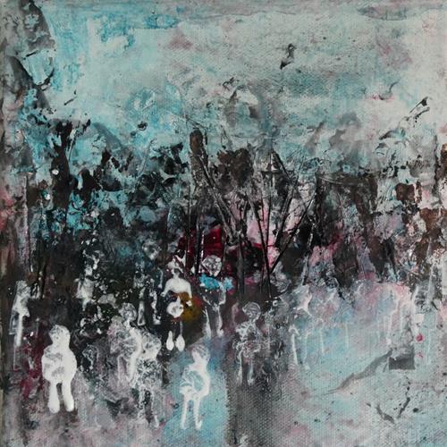 Uli Schweitzer, Crowdwalk, Menschen, Abstraktes, Abstrakte Kunst, Abstrakter Expressionismus