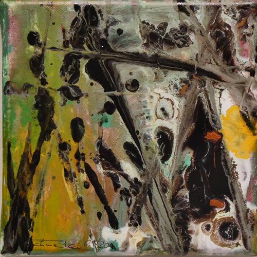Uli Schweitzer, Herbstzeit, Landschaft: Herbst, Ernte, Abstrakter Expressionismus