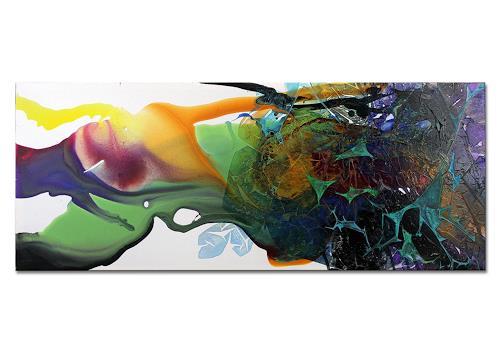 Thomas Stephan, Secrets, Abstraktes, Fantasie, Abstrakter Expressionismus