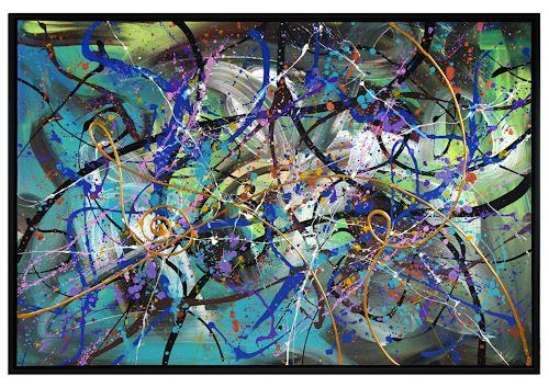 Thomas Stephan, Mandala, Abstraktes, Religion, Abstrakter Expressionismus