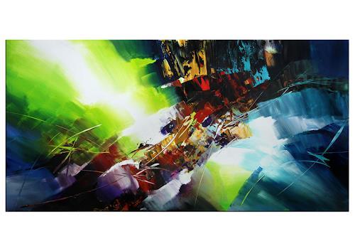 Thomas Stephan, Entdeckungsreise, Abstraktes, Fantasie, Abstrakter Expressionismus