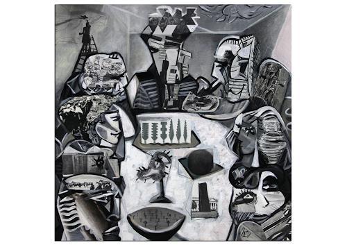 Andreas Garbe, K. Namazi: Kreatives Meeting, Menschen: Gruppe, Arbeitswelt, Kubismus, Abstrakter Expressionismus