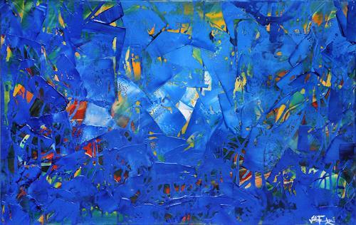 Andreas Garbe, Eintritt in die Atmosphäre, Abstraktes, Weltraum, Abstrakter Expressionismus, Expressionismus