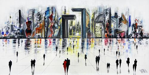 Andreas Garbe, Verborgene Formen IV, Abstraktes, Architektur, Neo-Expressionismus