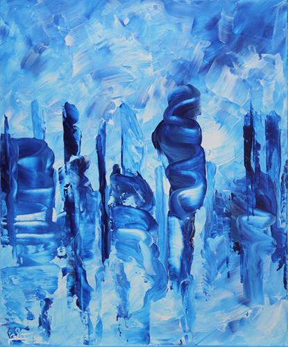 Andreas Garbe, Wolkenkuckkucksstein III, Landschaft, Abstraktes, Abstrakte Kunst