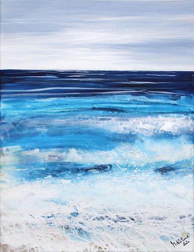 Andreas Garbe, Meeresblick groß, Landschaft: See/Meer, Natur: Wasser, Abstrakte Kunst