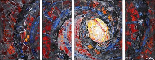 Andreas Garbe, Deep Passion I, Abstraktes, Fantasie, Abstrakter Expressionismus