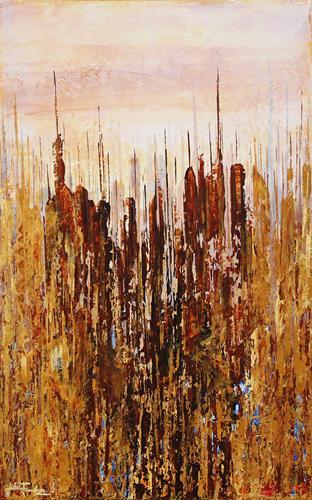 Andreas Garbe, Makatran III, Abstraktes, Fantasie, Abstrakter Expressionismus