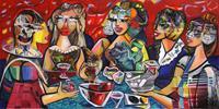 Andreas-Garbe-Abstraktes-Menschen-Gruppe-Moderne-Expressionismus-Neo-Expressionismus