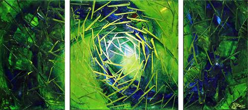 Andreas Garbe, Legenden, Abstraktes, Fantasie, Abstrakter Expressionismus