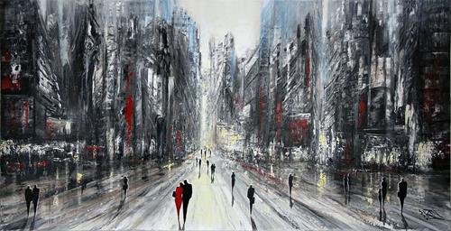 Andreas Garbe, Stolze Metropole IV, Architektur, Abstraktes, Neo-Expressionismus