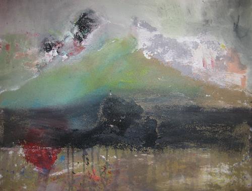 margarete hartmann, o.T, Landschaft, Abstraktes, Abstrakte Kunst, Expressionismus