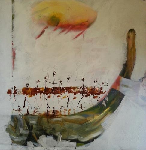 margarete hartmann, o.T, Mythologie, Mythologie, Gegenwartskunst, Abstrakter Expressionismus