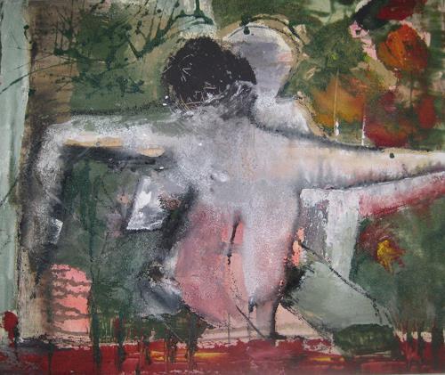 margarete hartmann, o.T, Menschen: Paare, Gefühle: Liebe, Abstrakter Expressionismus