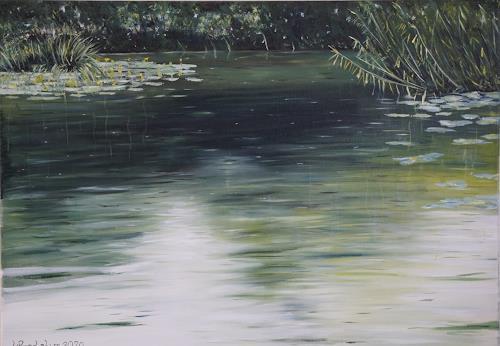 Urs Brandenburg, Aabach Detail, Landschaft, Gegenwartskunst, Expressionismus