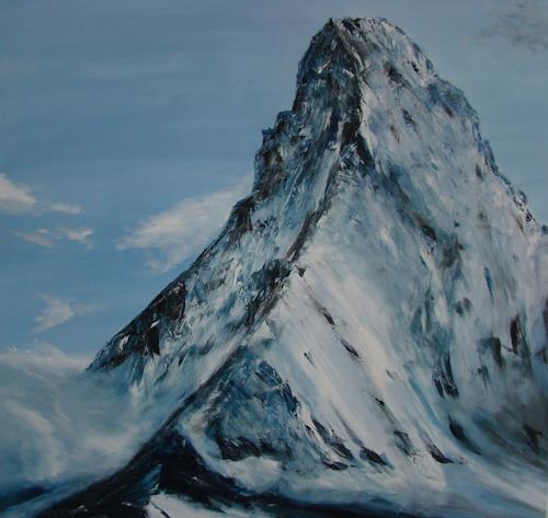 Urs Brandenburg, Matterhorn, Landschaft: Berge, Gegenwartskunst, Expressionismus